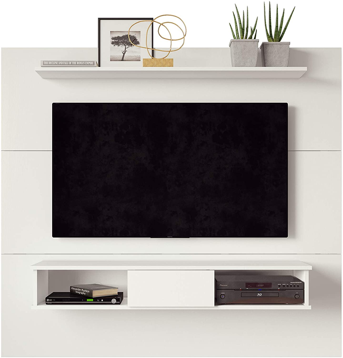 2-Shelf 70-inch TV Board, White