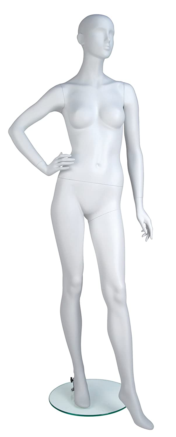 Econoco Full Size, Industrial Female Mannequin, True White