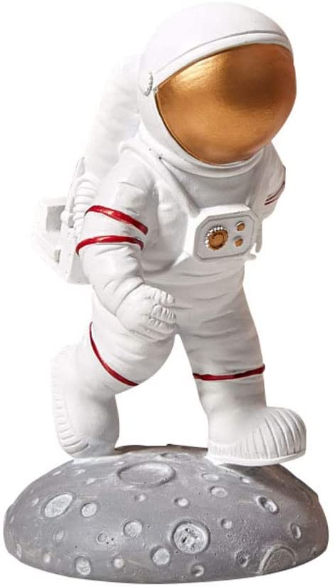 Forart Resin Astronaut Figure Sculpture Outer Space Themed Astronaut Statue Spaceman Figurine Gift Toys Birthday Party Kids Boys Room Bedroom Decor