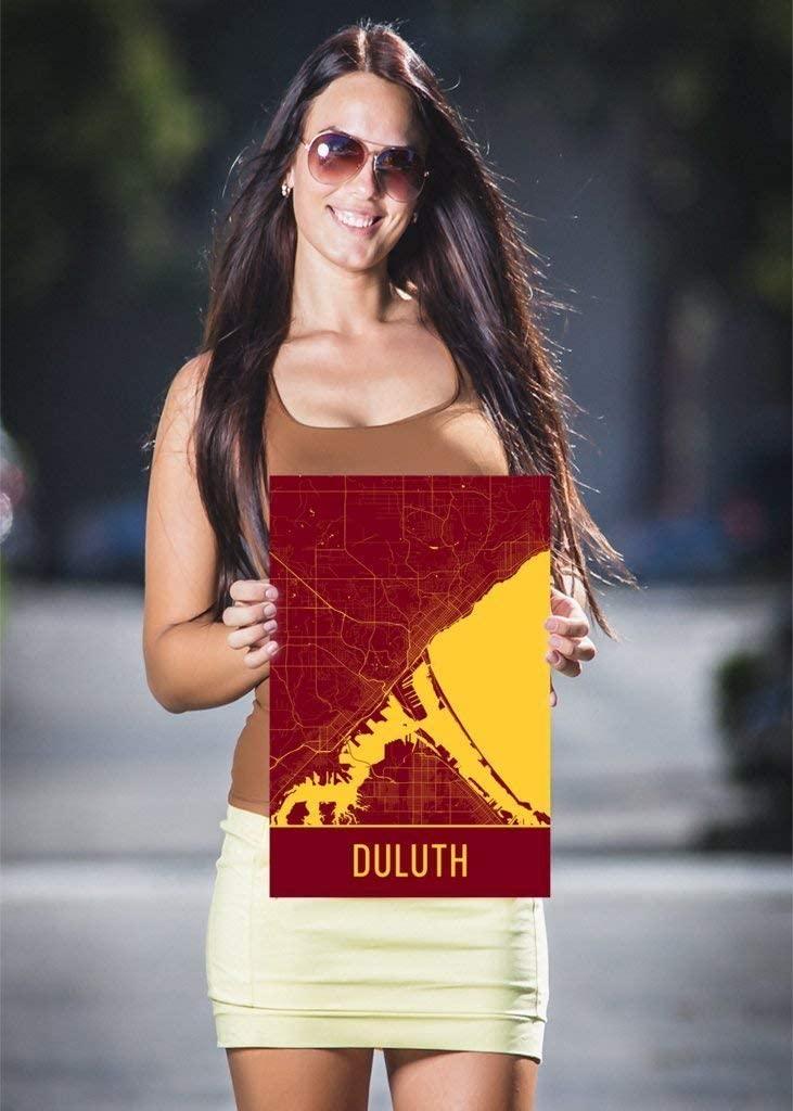 Modern Map Art Duluth Poster, Duluth Art Print, Duluth Wall Art, Duluth Map, Duluth City Map, Duluth Minnesota City Map Art,Duluth Gift,Duluth Decor, (24