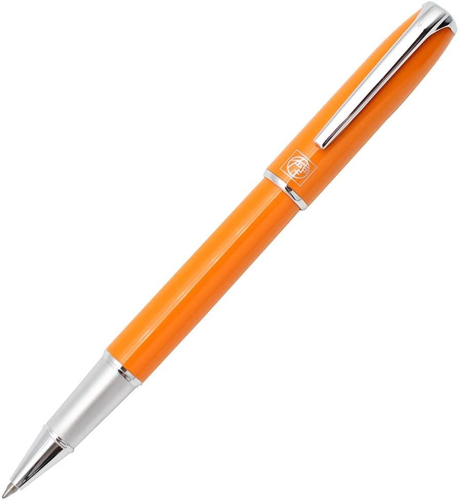 Gullor Advanced Picasso Rollerball Pen 916 Picasso Pen Orange and Silver Clip Pen