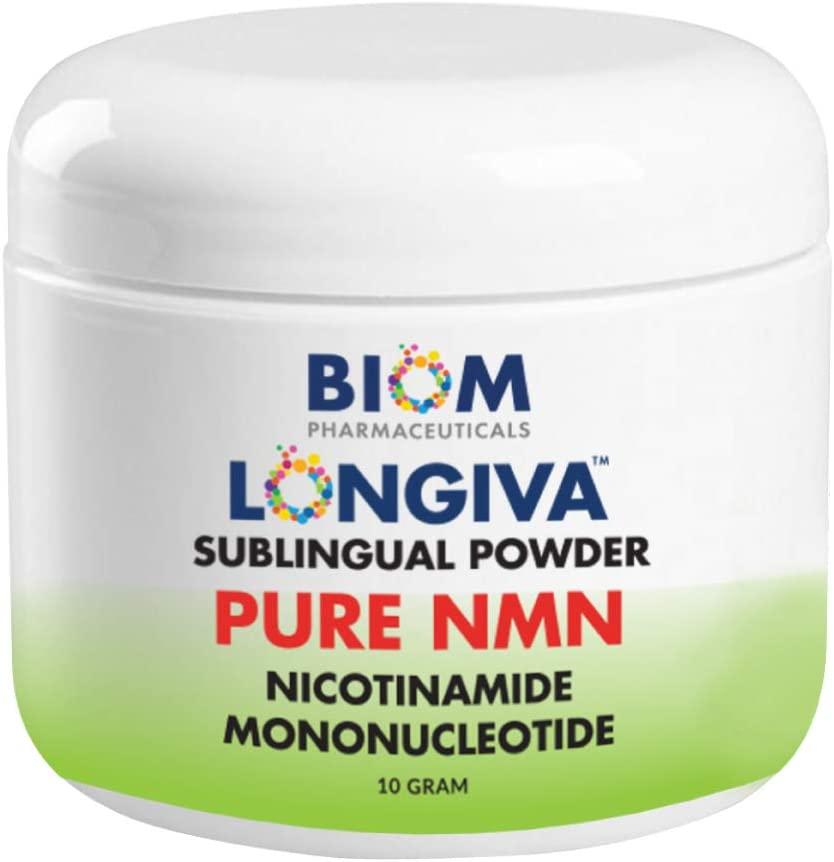 Biom NMN Sublingual Powder. Advanced Nanotized Nicotinamide Mononucleotide, Mitochondrial Regeneration, Sirtuin Activation, Cellular Energy