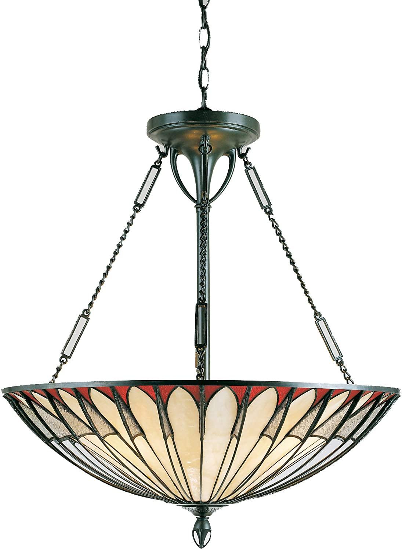 Quoizel TF1816VB Alahambre Tiffany Bowl Pendant Lighting, 4-Light, 400 Watts, Vintage Bronze (25