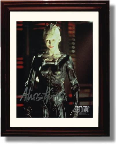 Framed Alice Krige Autograph Replica Print - Star Trek First Contact