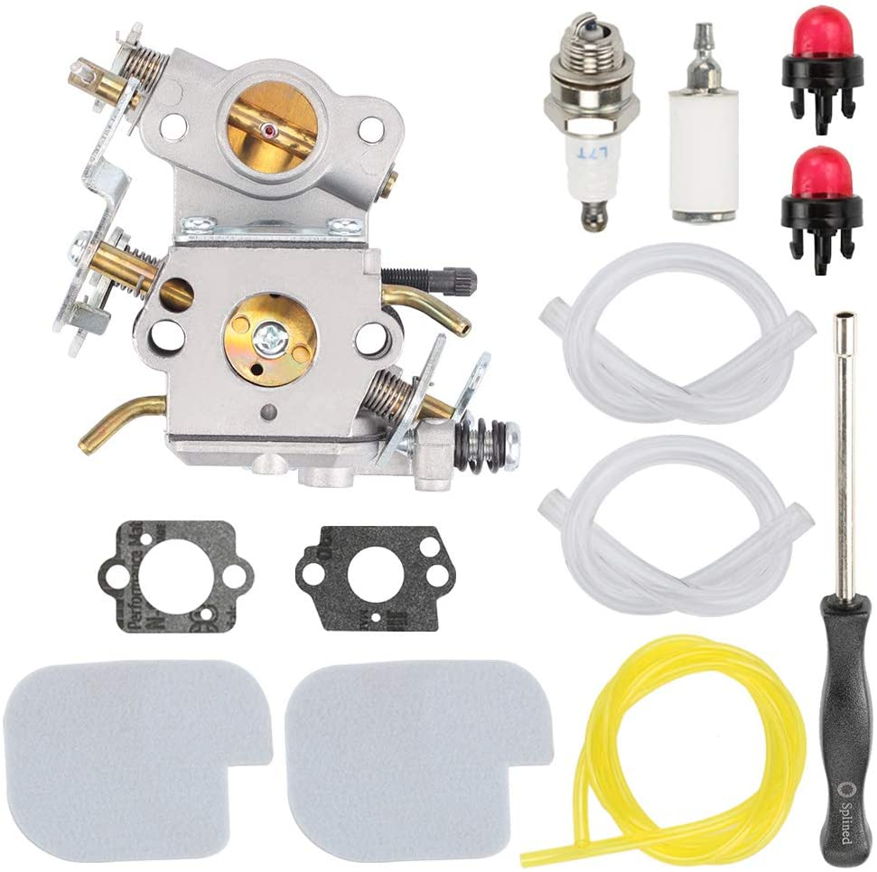 Highmoor 545070601 C1M-W26C Carburetor + Tune Up Kit Air Filter Carb Adjustment Tool for Poulan Pro PP3416 PP3516 PP3816 PP4018 PP4218 PPB3416 SM4218AV Gas Chainsaw Parts
