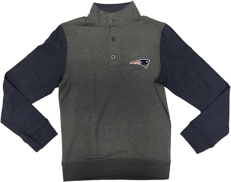 New England Patriots Men's 3 Button Pullover Sweatshirt