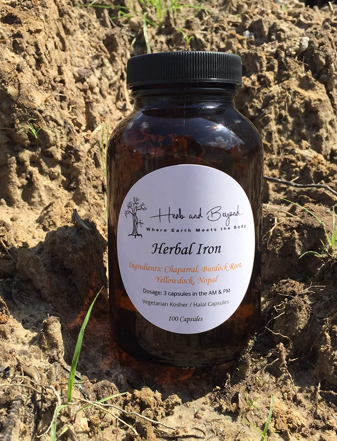 (Dr Sebi Inspired) - Herbal Iron / 100% Natural/No Chemicals / 100 Capsules