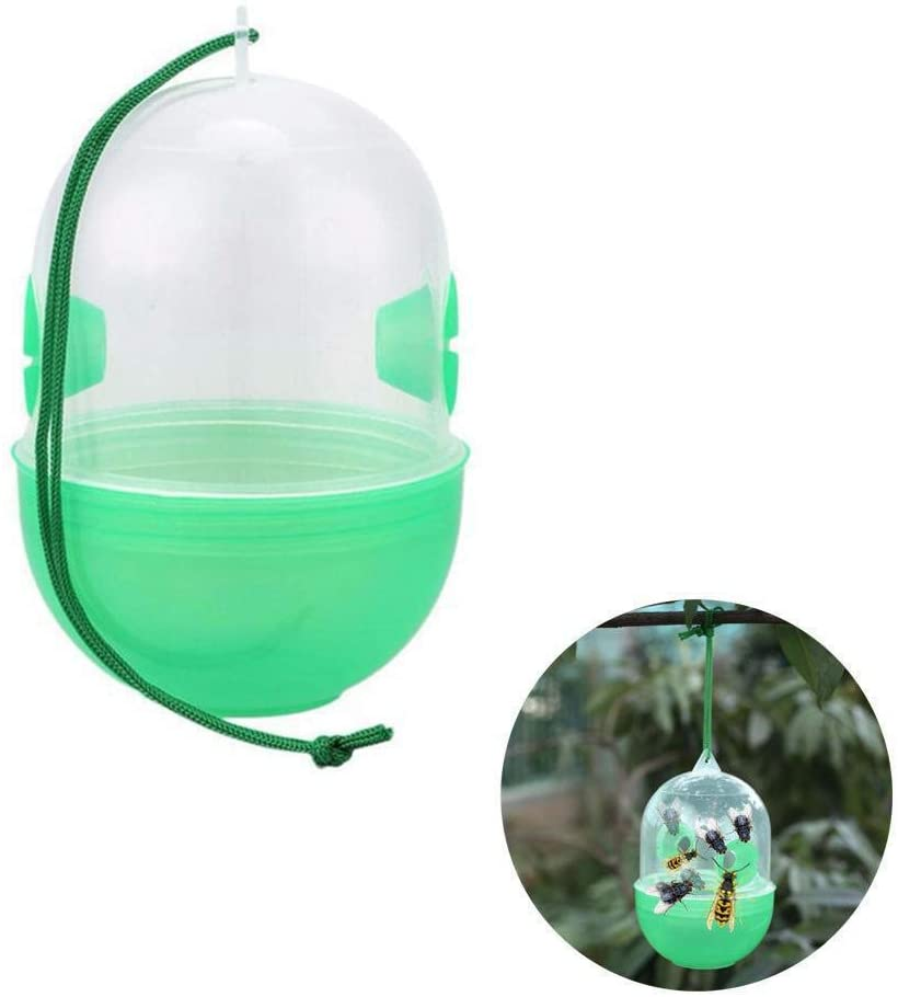 Whewer Wasp Trap Chemical-Free Insect Bug Catcher Wasp Trap Catcher Bee Trap Outdoor Wasp Deeterrent Killer Insect Catcher Honey Bee Trap