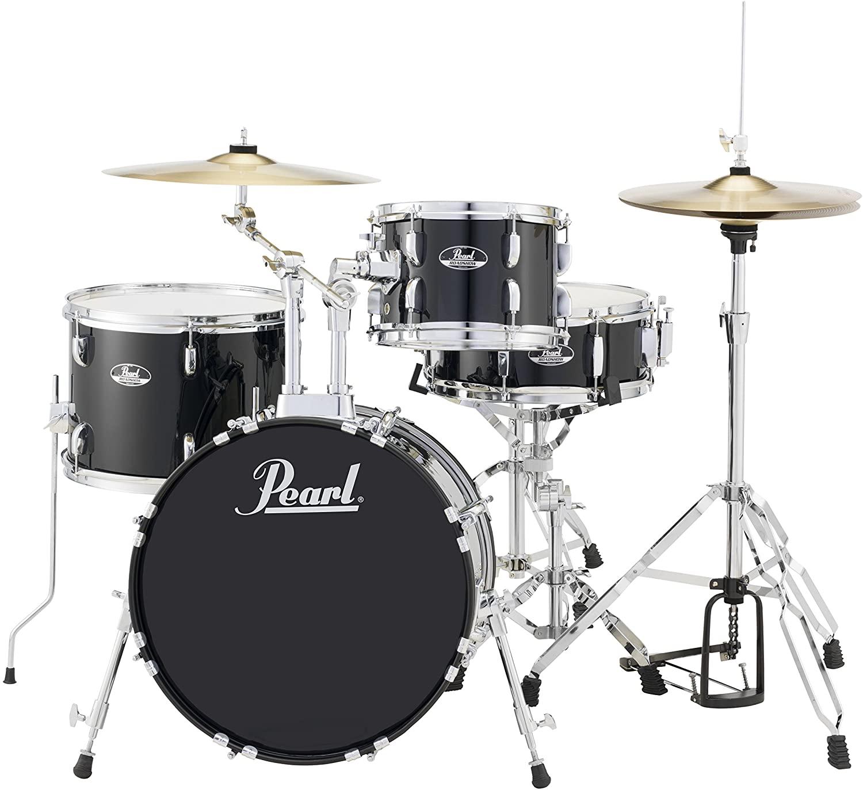 Pearl Roadshow 4-Piece Drum Set, Jet Black (RS584C/C31)