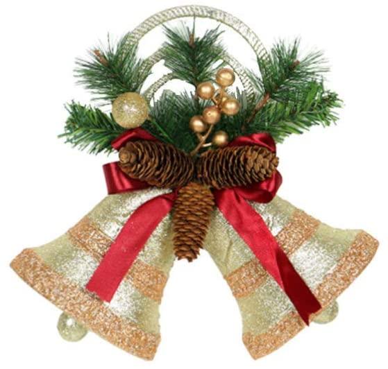 STOBOK Christmas Bell Ornament Pinecone Door Decoration Door Hanging Decoration Bell Christmas Tree Decoration Ornament