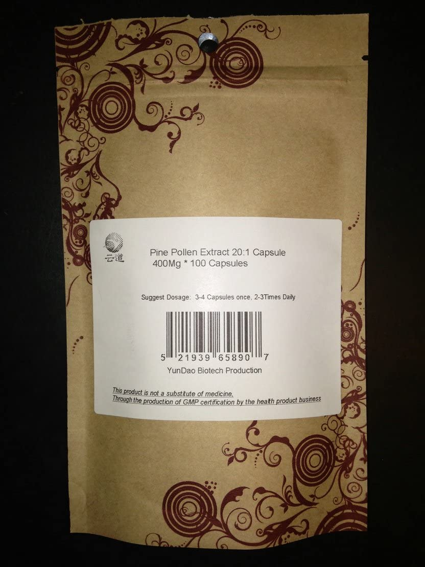 Wild Harvest Masson Pine Pollen Extract 20:1 Extraction 400Mg * 1000 Capsules