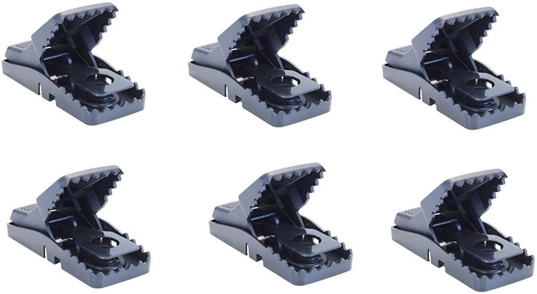 Trapper Mini T-rex Easy Set Mouse Snap Trap 6 Traps BELL-1044