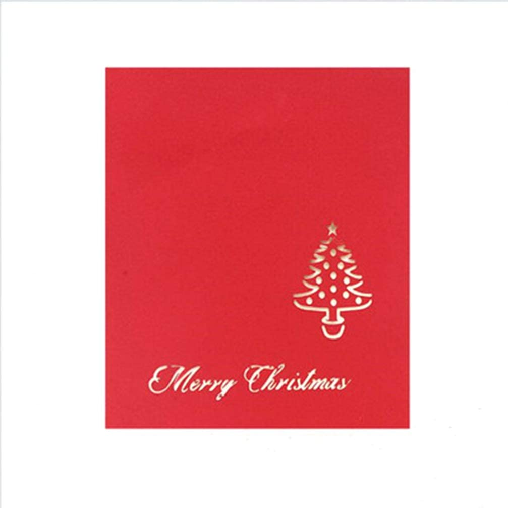 LIOOBO 3D Pop Up Christmas Card Cutout Greeting Card for New Year Holiday Xmas Gift (Christmas Tree 2)