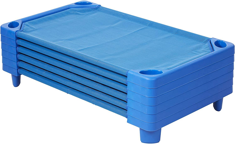 ECR4Kids Streamline Toddler Naptime Cot, Stackable Daycare Sleeping Cot for Kids, 40