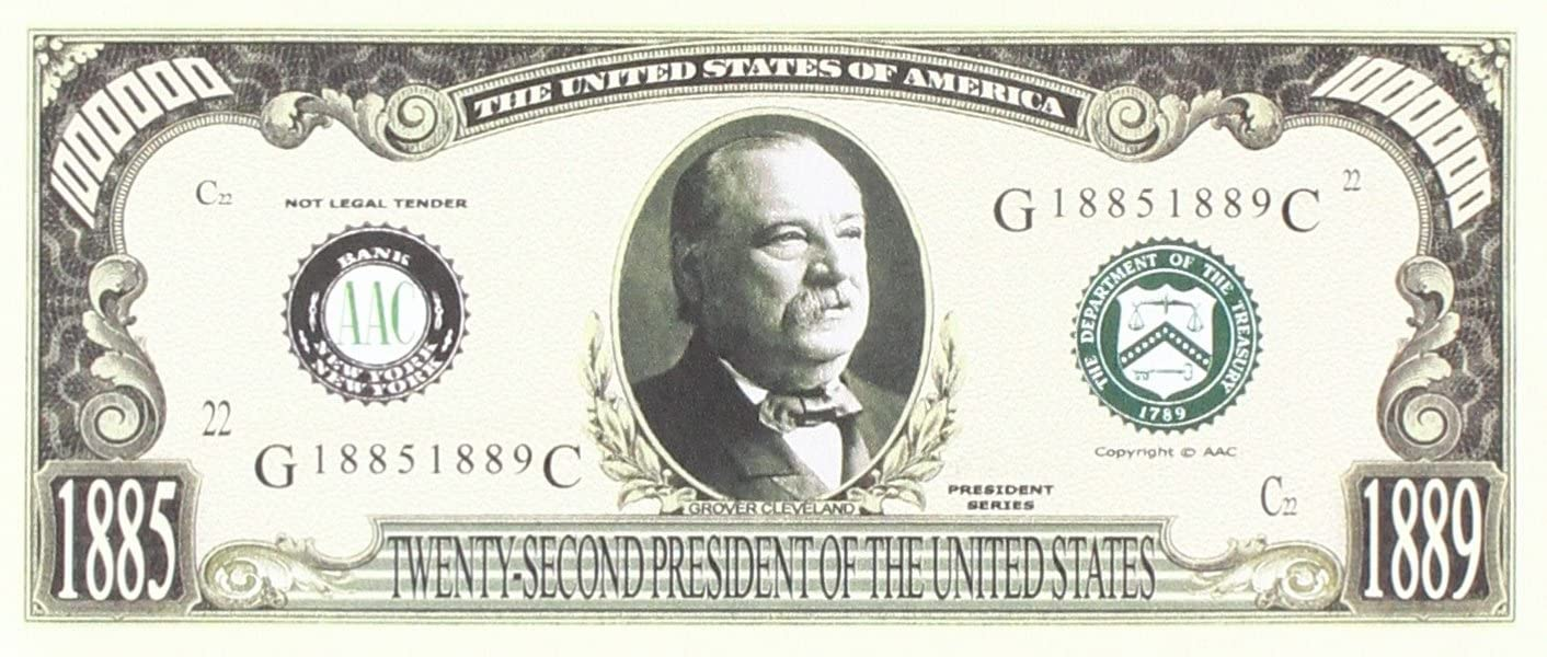 American Art Classics Set of 5 Bills-Grover Cleveland Million Dollar Bill