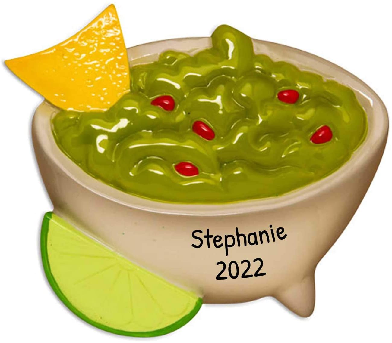 Personalized Guacamole Christmas Tree Ornament 2020 - Delicious Avocado Dip Spread Salad Tortilla Chips Lime First Job Love Favorite Mexican Party Eat Restaurant Food Gift Year - Free Customization
