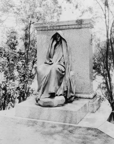 1923 photo Marian (Clover) Adams Monument in Rock Creek Cemetery, Washington, e2