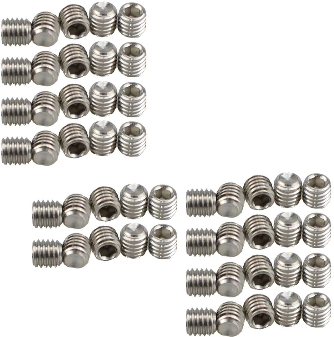 XunLiu 316 Stainless Steel Internal Hex Socket Cup Point Grub Screw (50, M8X8)