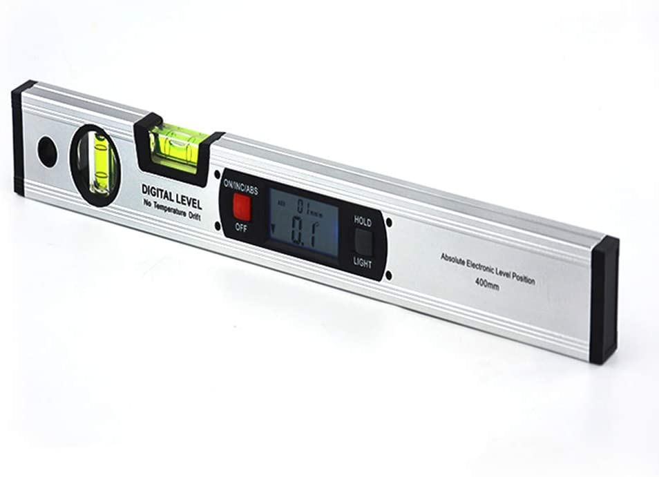 CGOLDENWALL Digital Inclinometer Protractor 360° Angle Finder Gauge with Backlight LCD inch/Metric Conversion Three Buttons (1000mm Without Magnet)