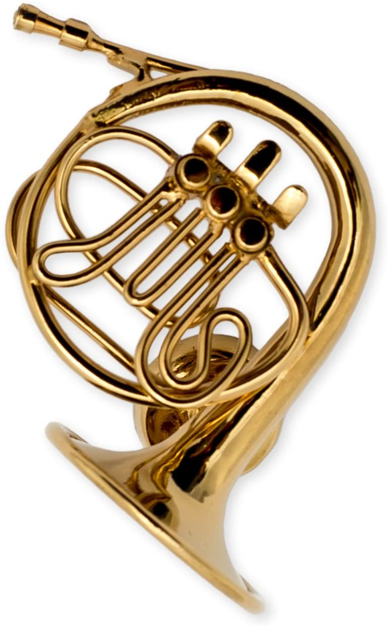 Gold French Horn Miniature Replica Magnet, Size 1.25 inch