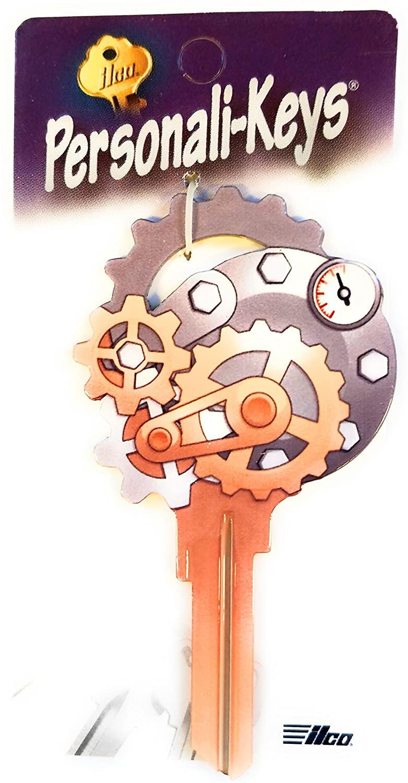 Personali-Key Ilco Gears Shape Kwikset KW Key Blank