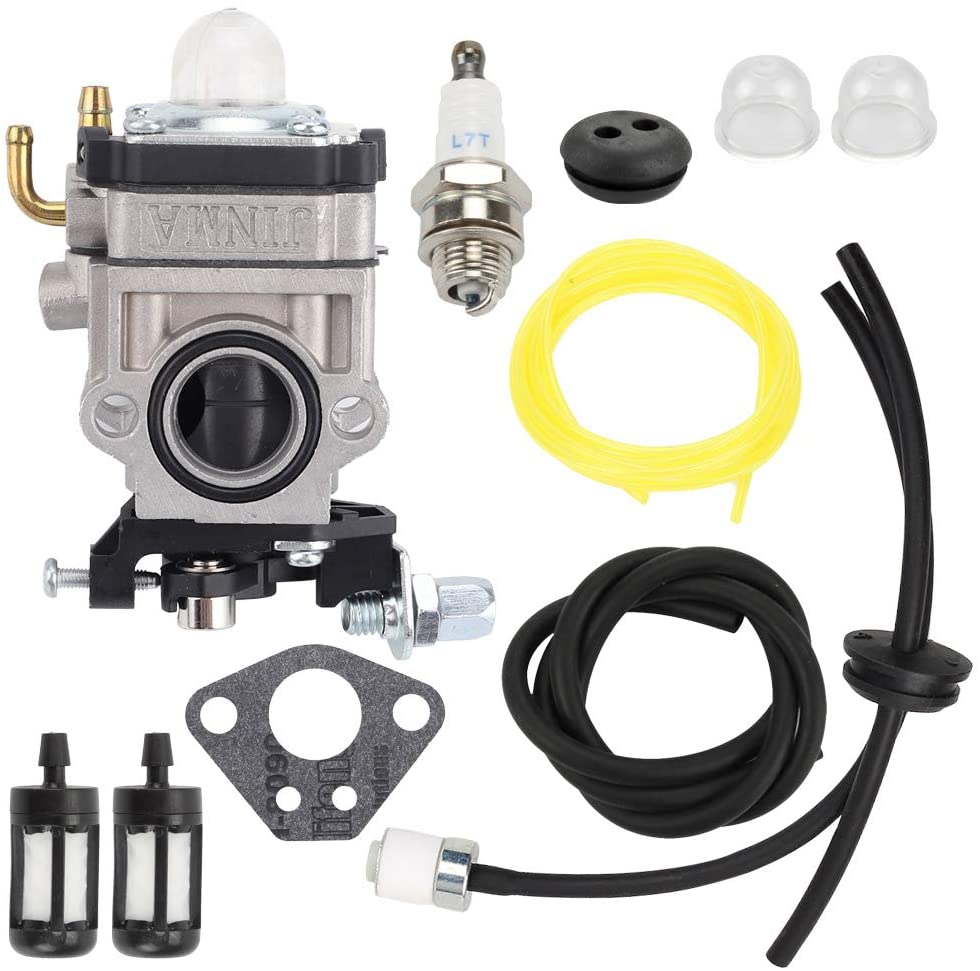 Highmoor 300486 MC43 Carburetor Carb Kit for Earthquake E43 E43CE E43WC Auger MC43E MC43CE MC43ECE MC43RCE Tiller MD43 WE43 WE43E WE43CE Edger