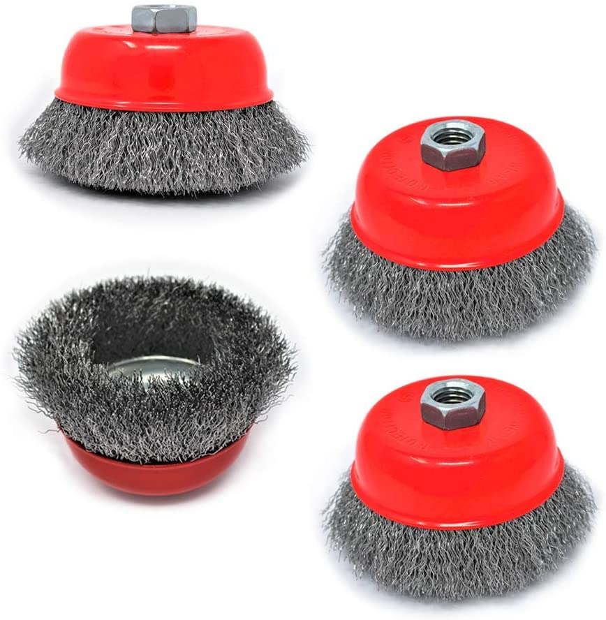 Toolman Knotted Cup Brush Universal Fit 4