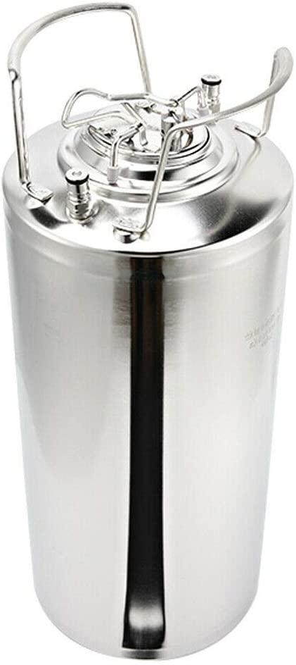 Ethedeal Fermenter Barrel -18.5L Portable Stainless Steel Barrel Fermenter, Home Brew Wine Beer Tank Storage Keg (18.5L-5 Gallon)