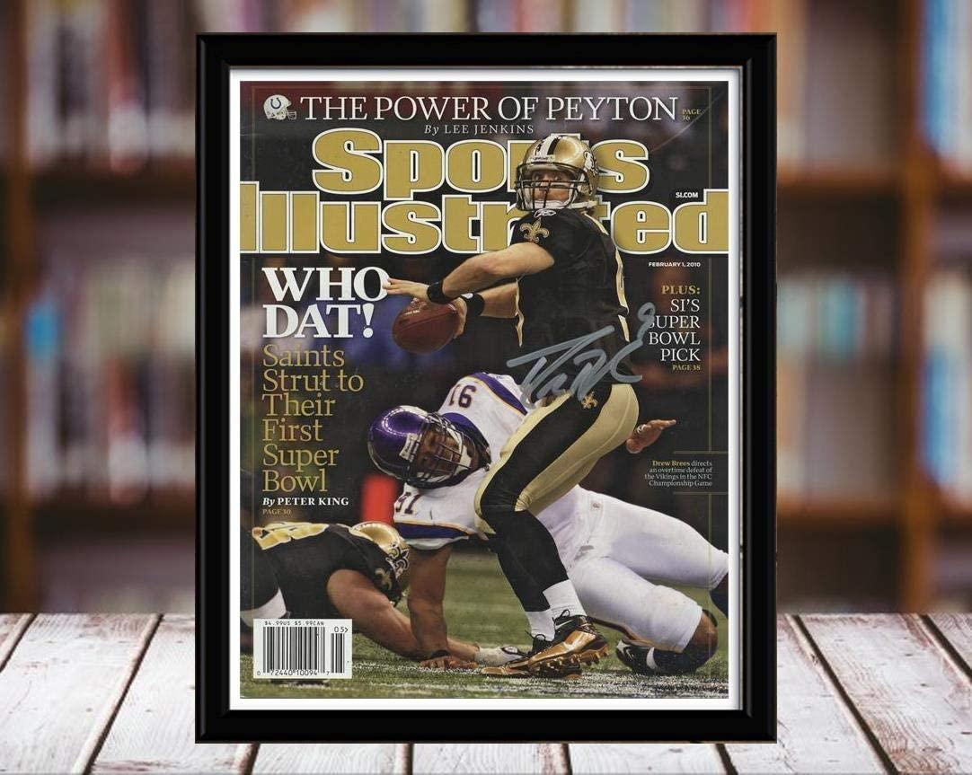 Desktop Frame - Football Drew Brees - Who Dat SI Autograph Replica Print - 2010.02.01