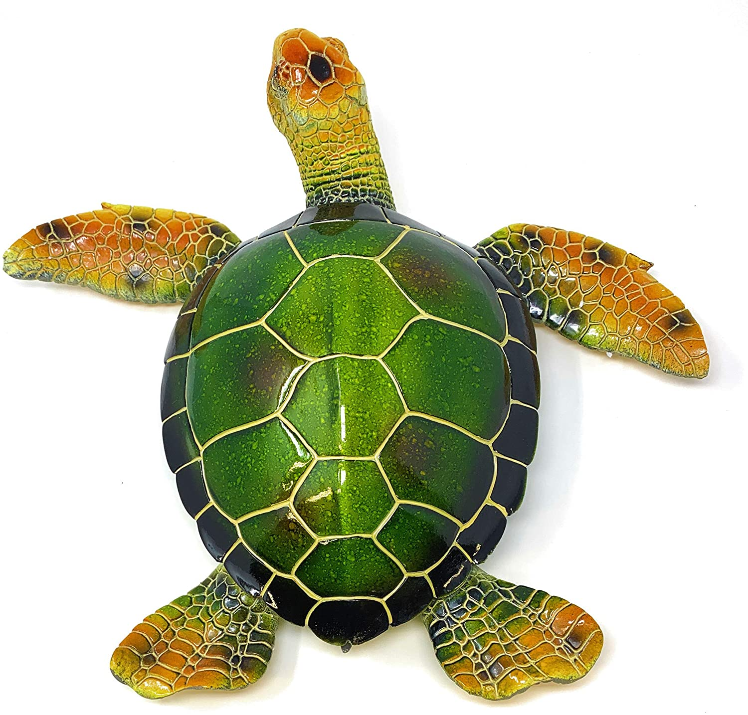 Globe Imports Oversized Green Sea Turtle Statue, Made of Resin Indoor Outdoor Decor, 16 Inches Wide X 15 Inches Long