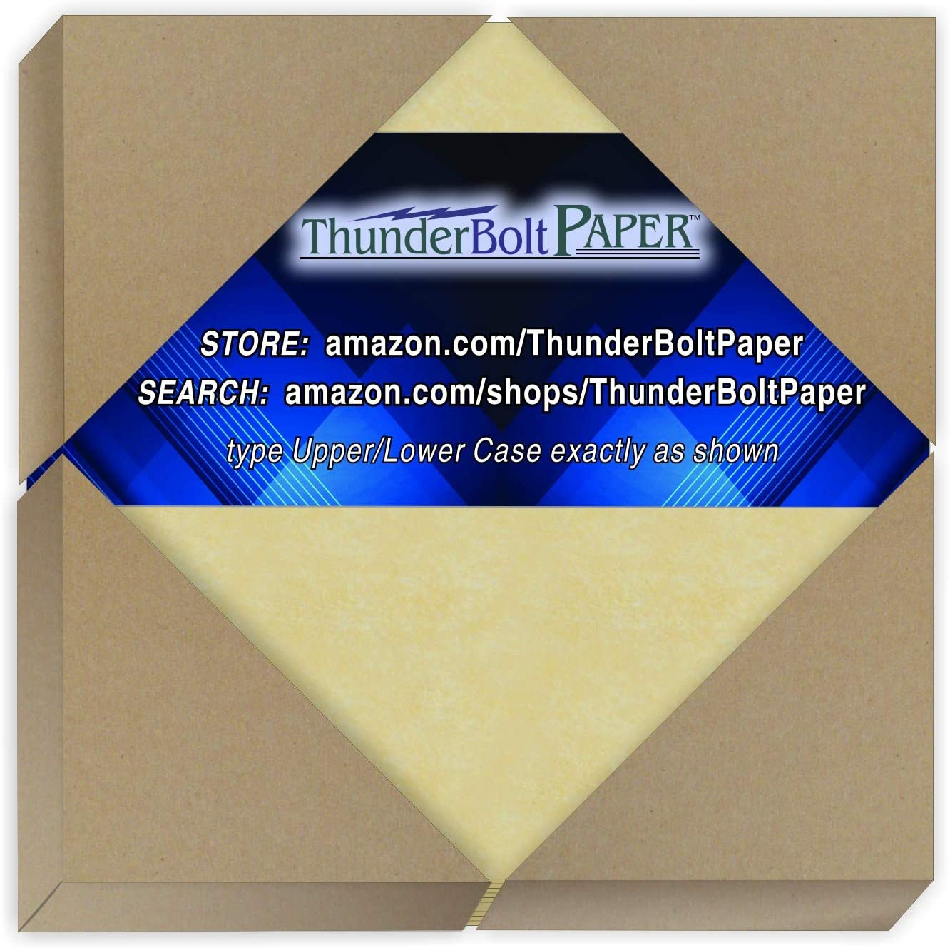 50 Gold Parchment 65lb Cover Weight Paper - 4