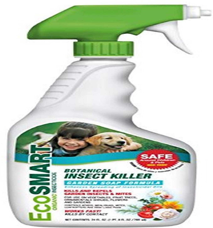EcoSmart Organic Botanical Garden Insect Killer, Non-Toxic Garden Soap Formula, 24 Ounce Ready-to-Spray Bottle