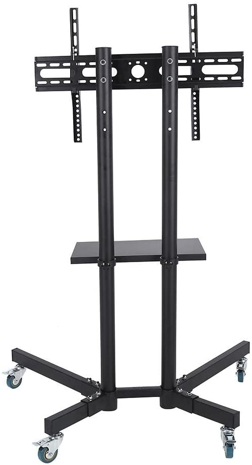 Mobile TV Cart, 32-65 Inch Adjustable Stand Mount for LCD/LED Flat Panel Screen with Wheels(1203911 Same)