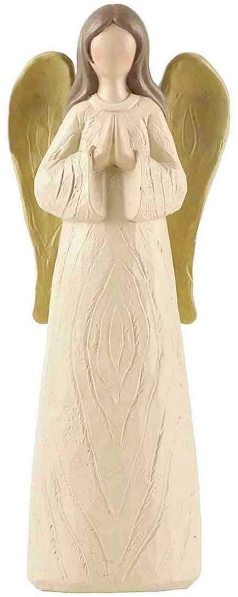 ENNAS Resin Praying Angel Sculpture Figurine for Gifts Home Decoration-Cream (7.5