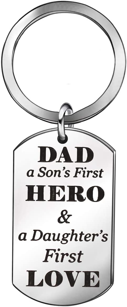 Christmas Gift for Dad Father from Son Daughter Men Keychain Key Chain Ring (2)
