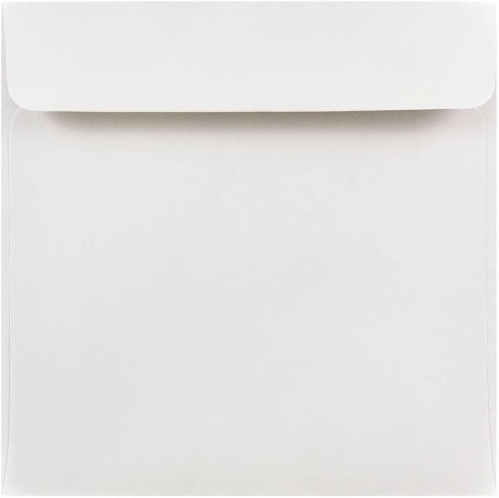 JAM PAPER 6 x 6 Square Invitation Envelopes - White - 50/Pack