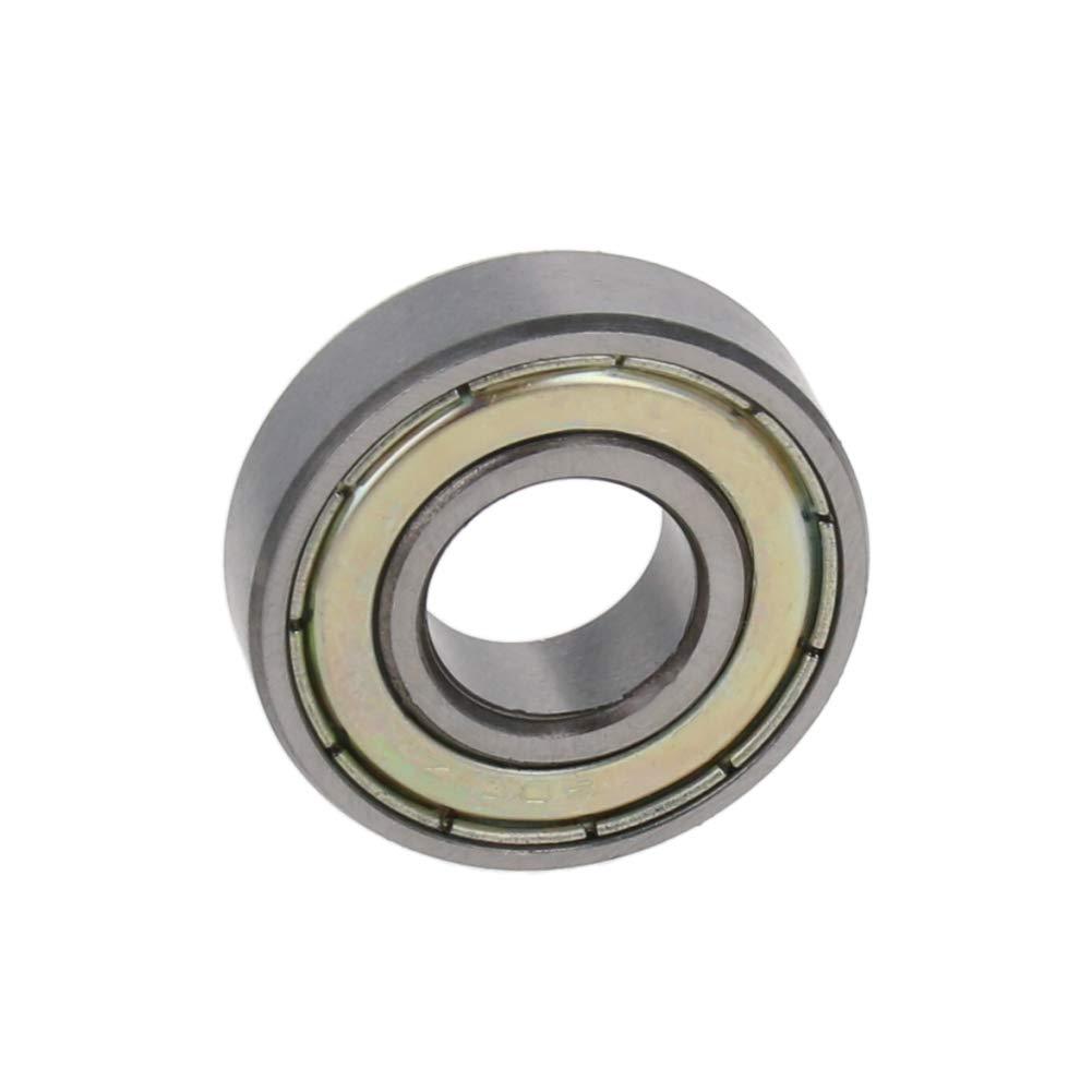 Othmro High Carbon Chromium Bearing Steel Plate Stamping Single-Sided Sealing Single Row High Speed Deep Groove Ball Bearing Shaft 12mm x 28mm x 8mm (1 PCS)