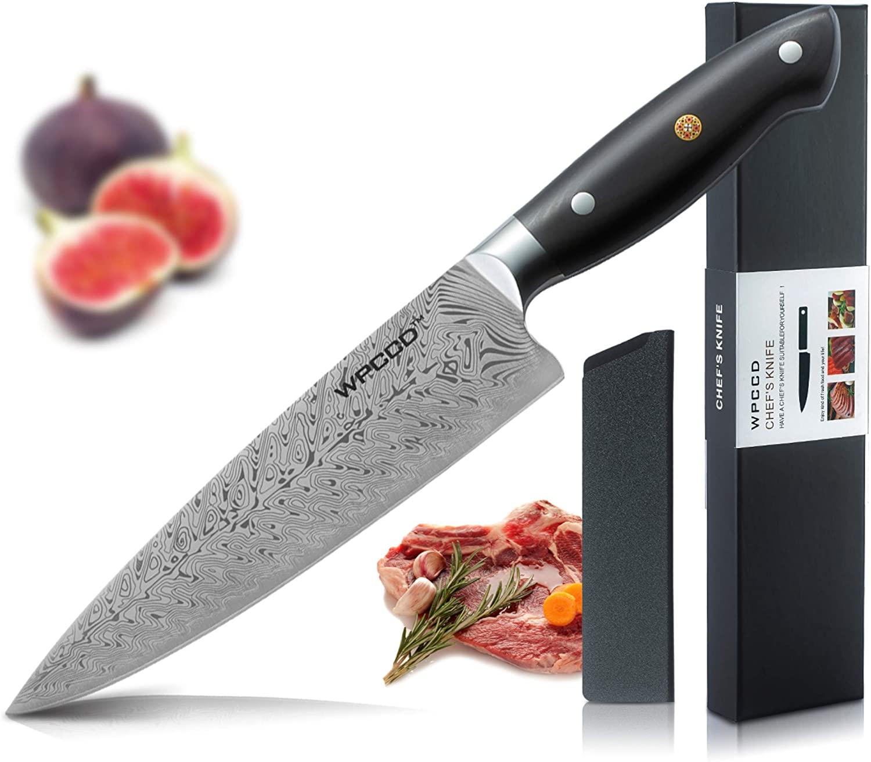 Professional Chef Knife 8 Inch Three Rivets Kitchen Knife German Molybdenum Vanadium Steel Main Kitchen Knife