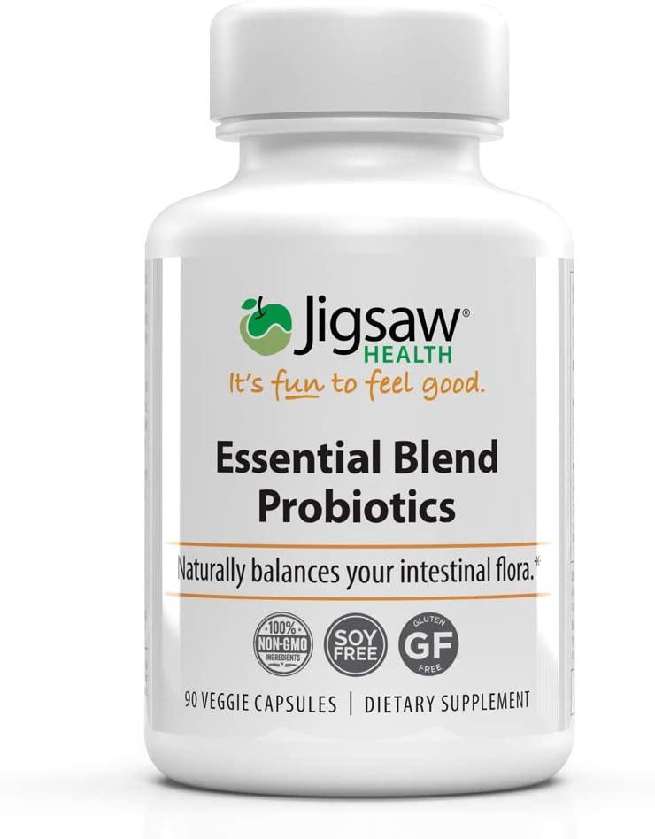 Jigsaw Health Essential Blend Probiotics - Professional Strength, High Quality with 25 Billion CFUs, Including L. Acidophilus La-14-90 Count