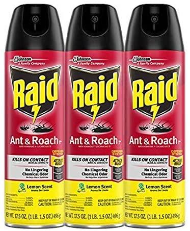 Raid Ant & Roach Killer Lemon Scent, 17.5 OZ (Pack - 3)