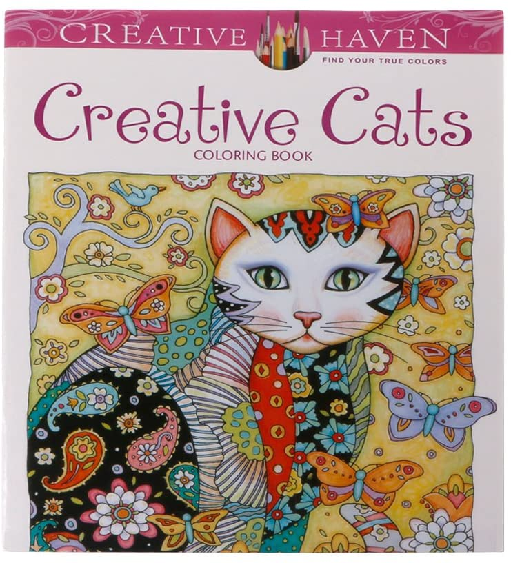 RUZYY Coloring Book, 24 Pages Creative Cat Coloring Book Kill Time Painting Drawing Book for Children