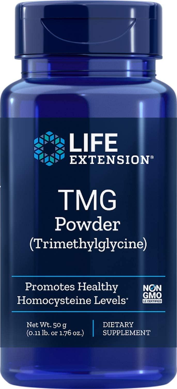 Life Extension TMG (Trimethylglycine), 50 Gram Powder