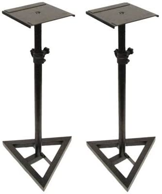 Seismic Audio - SR06-2PK - Pair of Steel Monitor or Amp Stands