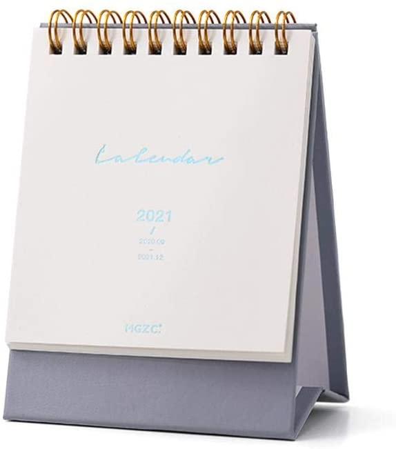 Small Desk Calendar Sep. 2020 - Dec. 2021,Mini Monthly Desktop Calendar,Academic Year Standing Desk Calendars 2021 Planner Organizer Designed to Set Goals for Home Office