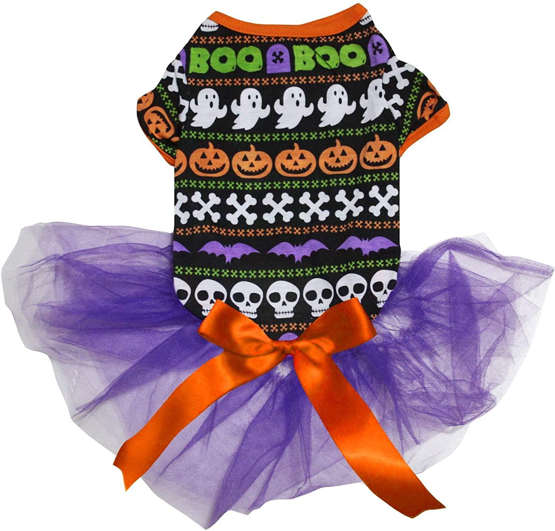 Petitebella Halloween Theme Puppy Dog Dress