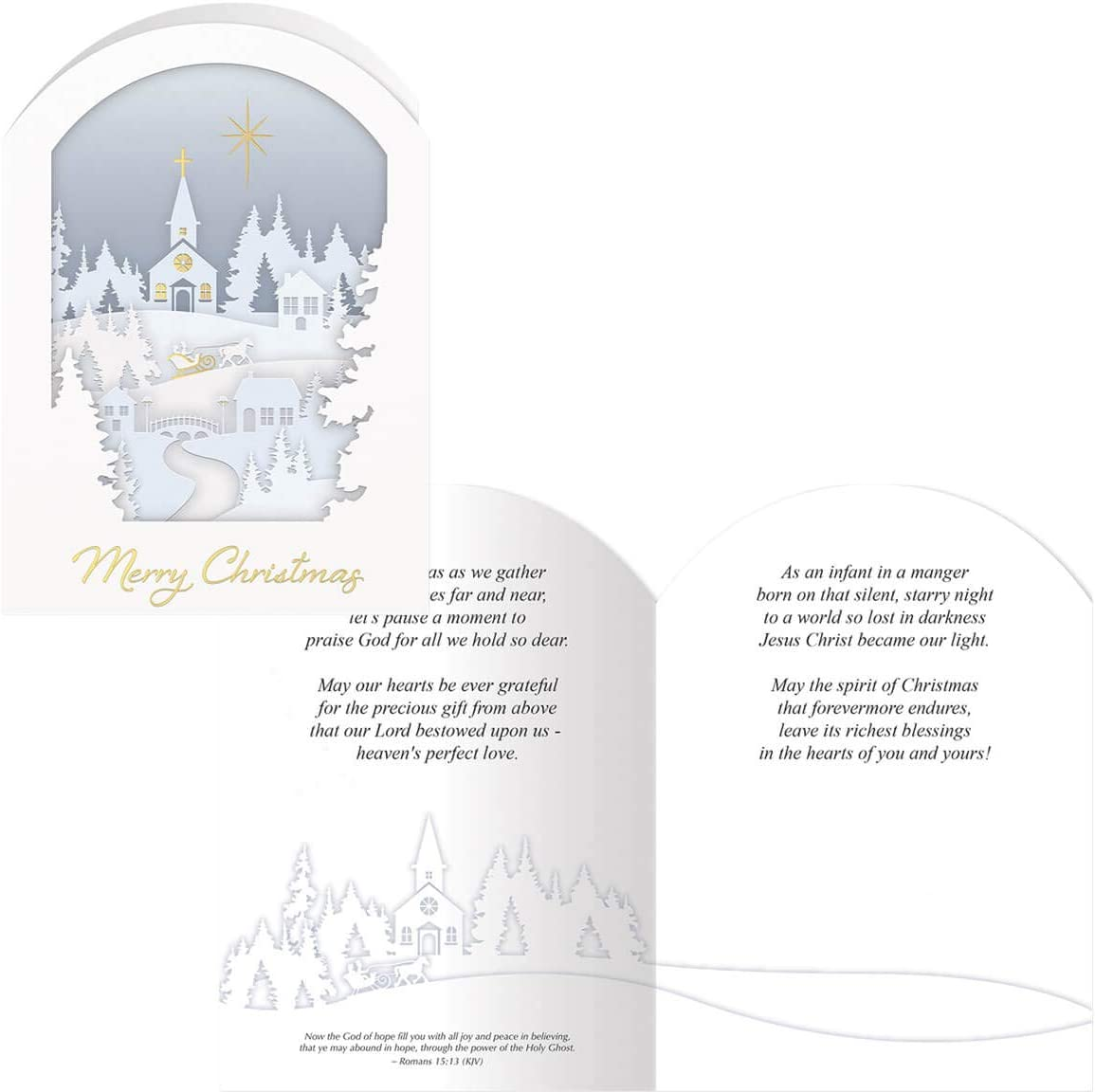 Papercut Collage Christmas Card Set of 20
