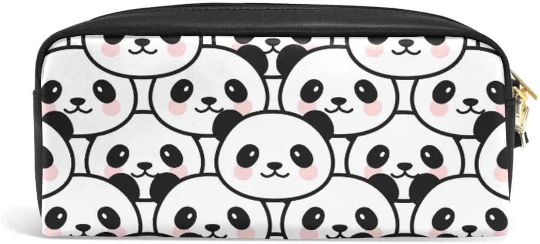 Pencil Case Big Capacity Pencil Bag Makeup Pen Pouch Panda Face Durable Students Stationery Pen Holder for School/Office