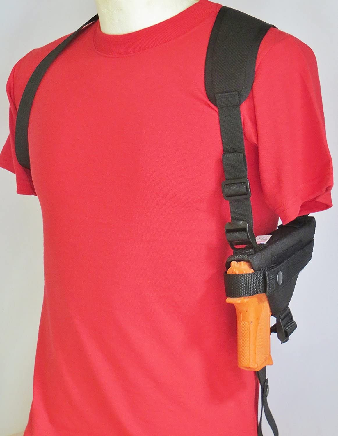 Shoulder Holster Taurus Millenium G2 PT111, PT140 with Underbarrel Laser Mounted on Gun