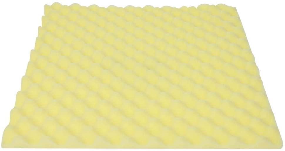 Sound Insulation Panels, Acoustic Panels Soundproof Padding Foam Soundproof Foam, for Studio Sound(50502cm high density flame retardant yellow)