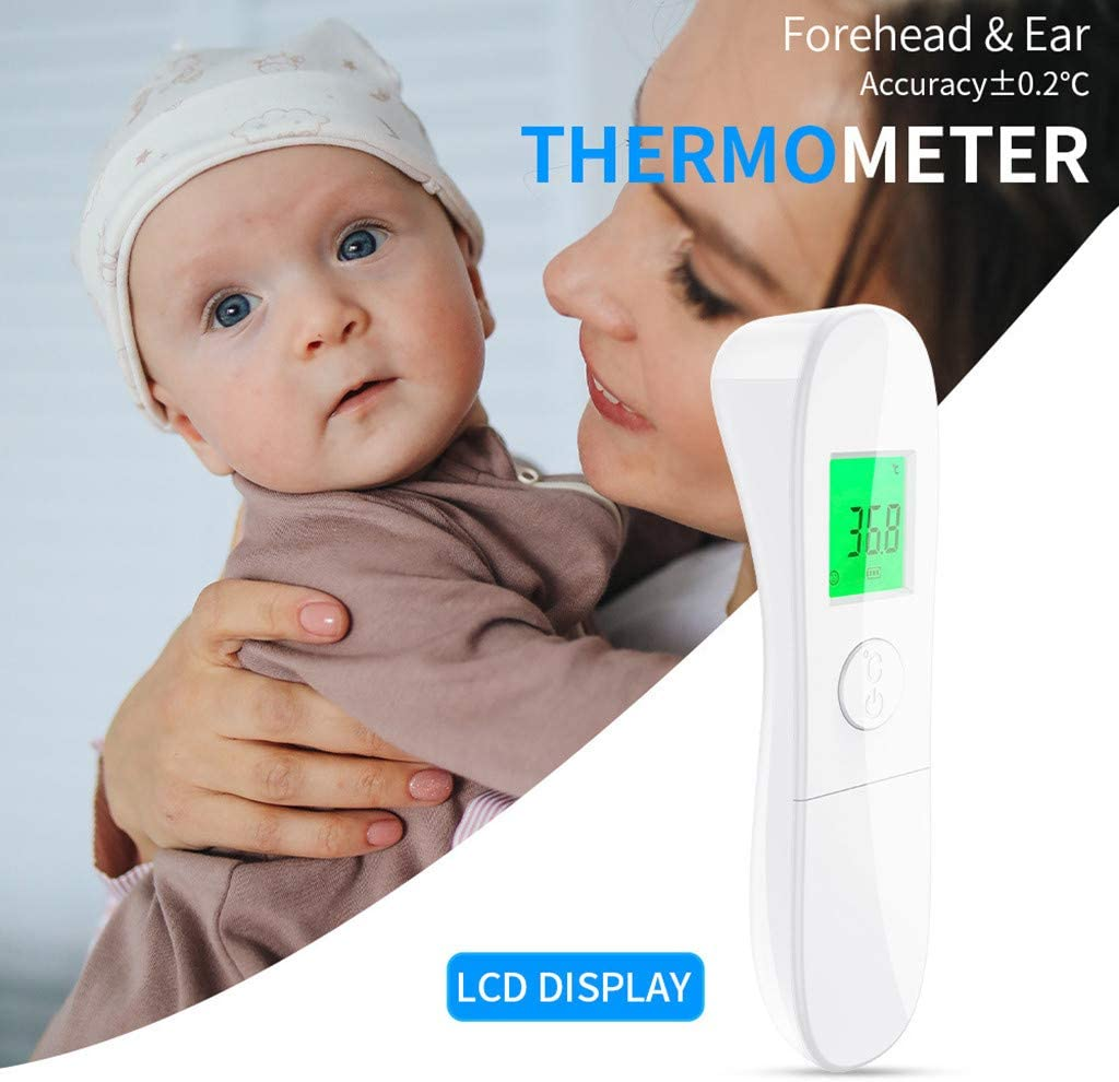 sakd Non Contact 𝐅𝐨𝐫𝐞𝐡𝐞𝐚𝐝 𝐆𝐮𝐧-High Precision with 32 Data Record for Kids Children Adults-Smart LCD Display& High Sensitivity